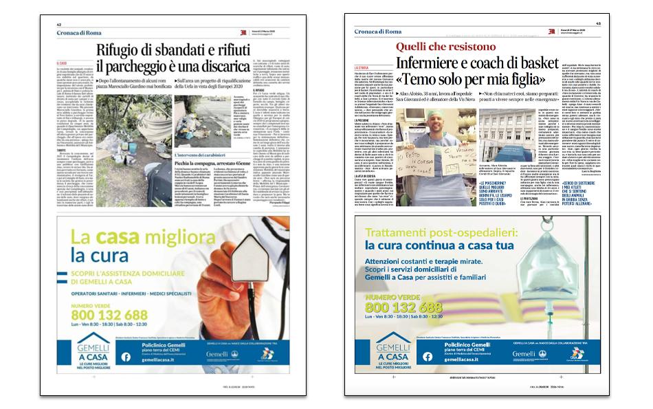 11. Mezze pagine Il Messaggero
